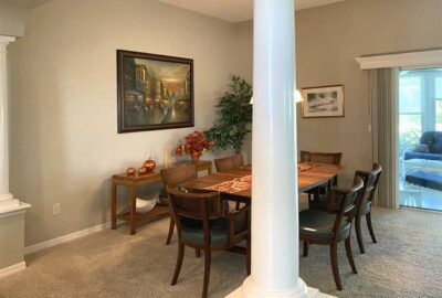 Before of Begonia dining room with the column - Interior Design - in the Villages of Florida.