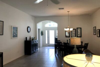 Before the Room looked Sterile and Dark - Interior Design - in the Villages of Florida.