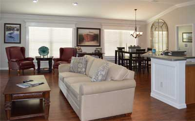 Light, bright and big dog friendly - Home Décor by Ruth Dyer - in the Villages of Florida.