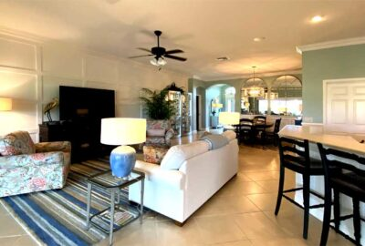 This is the board and batten wall - Home Décor by Ruth Dyer - in the Villages of Florida.