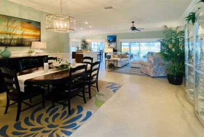 Windows trimmed out and artwork in place - Interior Design - in the Villages of Florida.